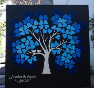 Hochzeitsbaum Weddingtree 3D Holz - Farbabstufung