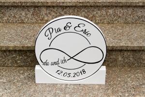 Tischdeko Hochzeit Unendlichkeitszeichen rund 20cm