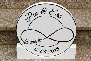 Tischdeko Hochzeit Unendlichkeitszeichen rund 30cm