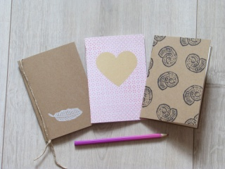 Notizbücher A6 handbedruckt handgemacht Scrapbooks Notizbuch Geschenk Notizheft