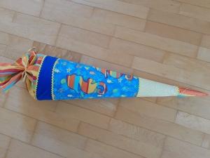 Schultüte Seepferdchen - inkl. Papprohling zum Rausnehmen   - Handarbeit kaufen