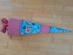 Schultüte mit Buchstaben - inkl. Papprohling zum Rausnehmen  - Handarbeit kaufen