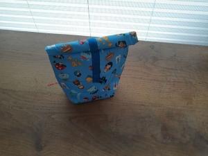 Rolltasche - Lunchbag - Kulturtasche außen kleine Monster, innen abwaschbar