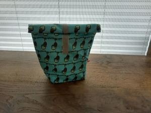 Rolltasche - Lunchbag - Kulturtasche außen süße Affen, innen abwaschbar