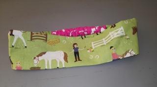 Haarband aus Baumwolle mit dehnbarem Teil - Pferde