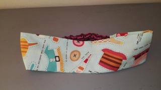 Haarband aus Baumwolle mit dehnbarem Teil - Ausschneidebogen - Handarbeit kaufen