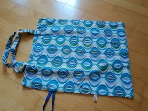 Stoffbeutel/Einkaufsbeutel zum Zusammenlegen Muster - Handarbeit kaufen