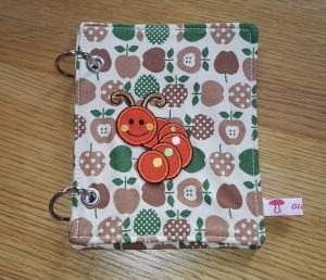 Mini-Ringbuch - zum Einheften und Sammeln / Äpfel mit Raupe