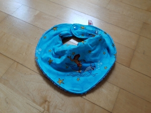 Halstuch mit Wasserfalloptik - blau Flipper - Handarbeit kaufen
