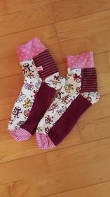 socks for fun - genähte Socken mit individueller Note- Rosatöne 3 - Handarbeit kaufen