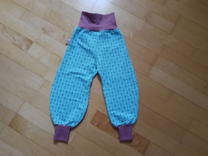 Kinderhose hellblau mit Ankern  Größe 86 - Handarbeit kaufen