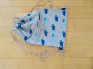 Rucksack - Sportbeutel aus Softshell Regenwolken - Handarbeit kaufen