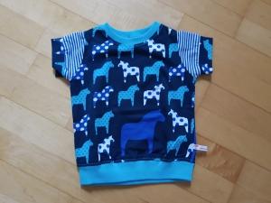 Kinder T-shirt Pferde Größe 74   - Handarbeit kaufen
