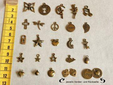 Charms zur Individualisierung Ihres Schmucks - Bronzefarben - Passend zu vielen meiner Armbänder und Ketten