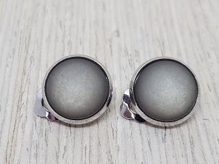 Ohrclips mit grauem Polaris-Schmuckstein - Lässig und edel