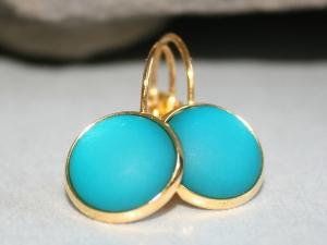 Polaris-Ohrringe - Türkis und Gold - Brisuren - Handarbeit kaufen