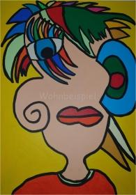 Pop Art Acrylbild Moderne Kunst Malerei auf Leinwand Bild Acryl Handsigniert