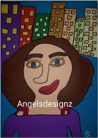 Pop Art Acrylbild Moderne Kunst Portrait Malerei auf Leinwand Bild Handsigniert