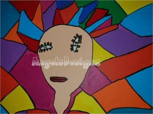 Pop Art Acrylbild Moderne Kunst Malerei auf Leinwand Bild Original
