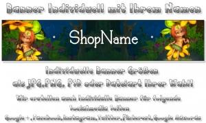 Banner Shopbanner Präsentation Individuell mit Ihrem Namen