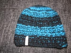 Strickmütze blau/schwarz aus Lana Grossa Olympia Wolle