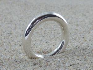 zeitloser Basic-Ring, Silber 925, 4 mm