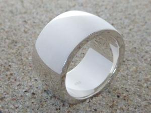 Ring, breit & schwer, Silber 925