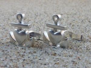 Manschettenknöpfe Glaube-Liebe-Hoffnung Silber 925