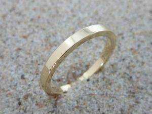 Basic-Ring, Gelbgold 750, schlicht, Verlobungsring