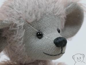 Künstlerbär, Maus, Größe 21 cm, Mohair, Einzelstück OOAK