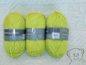 150g Strickgarn (Grundpreis:100g/3.00€) Häkelgarn für Mützen, Farbe hellgrün, sehr helles grün, Stricken, Häkeln, Basteln - Handarbeit kaufen
