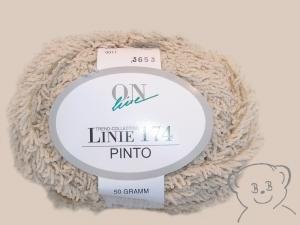 50g Effekt-Garn (Grundpreis:100g/5.00€) ONlinie 174 PINTO, Farbe creme, zum Häkeln oder Stricken - Handarbeit kaufen