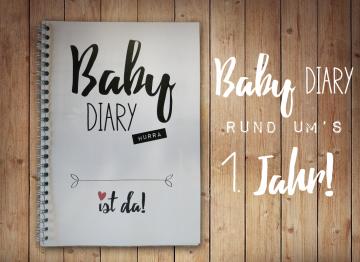 Baby diary Babytagebuch A5 Babys erstes Jahr