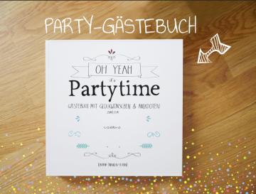 Gästebuch Party - mit Fragen