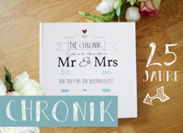 Hochzeitstage Jahres-Chronikbuch 25 Jahre