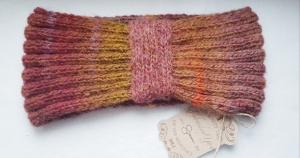 Turban, Ohrenwärmer, Stirnband aus Mohairgarnmischung, Farbverlaufgarn, handgestrickt von Elenono Brauntöne