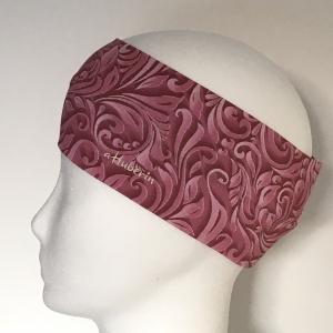 Kinderstirnband, Haarband, Ohrenwärmer, Kopfband, Jersey, 47-49 cm, Ranken altrosa - Handarbeit kaufen