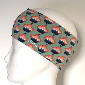 Kinderstirnband, Haarband, Ohrenwärmer, Kopfband, Jersey, 47-49 cm, Retroblume - Handarbeit kaufen