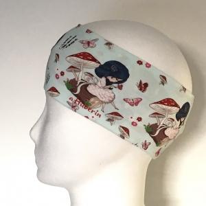 Kinderstirnband, Haarband, Ohrenwärmer, Kopfband, Jersey, 47-49 cm, Mädchen Fee hellblau - Handarbeit kaufen