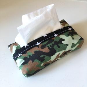 Taschentuchtasche, Taschentuchtascherl, TaTüTa, aus Baumwolle, Camouflage, für 10 Taschentücher - Handarbeit kaufen