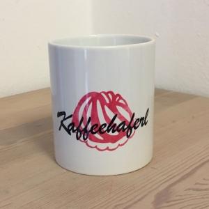 ♥ Kaffeehaferl ♥ Haferl Becher Keramikbecher mit Aufschrift Tasse, Kaffeehaferl mit Guglhupf - Handarbeit kaufen