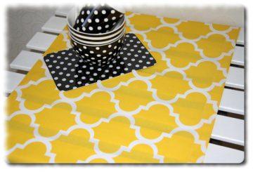 Tischläufer in Handarbeit einzeln angefertigt marokkanisches Muster in sonnigem gelb/weiß