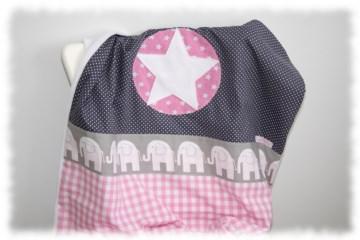 Babydecke ´´Pauline´´ mit Name im Stern einzeln angefertigt (Kopie id: 100036640)