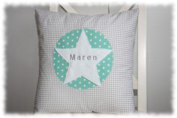 Kissenbezug mit Name im Stern einzeln angefertigt (Kopie id: 100037535)