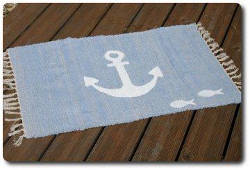 maritimer Flickenteppich mit Anker und Fischen (Kopie id: 100162219)