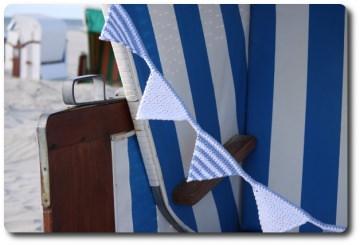 Hand gehäkelte Wimpelkette in maritimen blau/weiß einzeln angefertigte Girlande,Zimmerschmuck,Fensterschmuck,Taufgeschenk,Baby Geschenk,Babyausstattung,Hallo Baby,New Born,