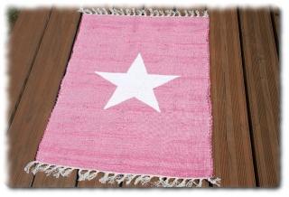 Flickenteppich  Läufer´´ Einzelstück´´ T-239 Stern Teppich in rosa