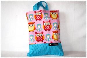 Kindertasche,Büchertasche,Kindergartentasche,genäht,Handarbeit,Einkaufstasche,Stofftasche,Eulen