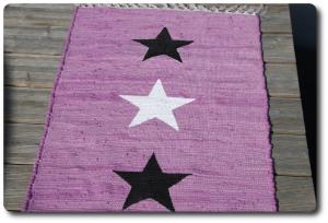 Flickenteppich,Läufer´´ Einzelstück´´ T-236 Sterne,Teppich,Bettvorleger,Kinderzimmerteppich,Einzelstück,Fußmatte,Esszimmerteppich