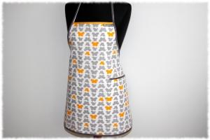 Schürze ´´Vanessa´´ in Handarbeit einzeln angefertigte Küchenschürze Kochschürze Backschürze